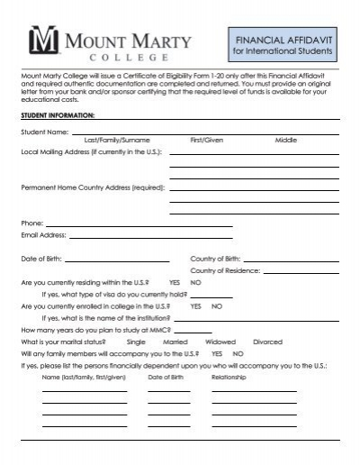 affidavit form espanol affidavit format template sample form biztree submit the international student financial affidavit form