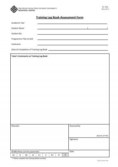 Template Training Provider Assessment Forms A \ B - National - training assessment form