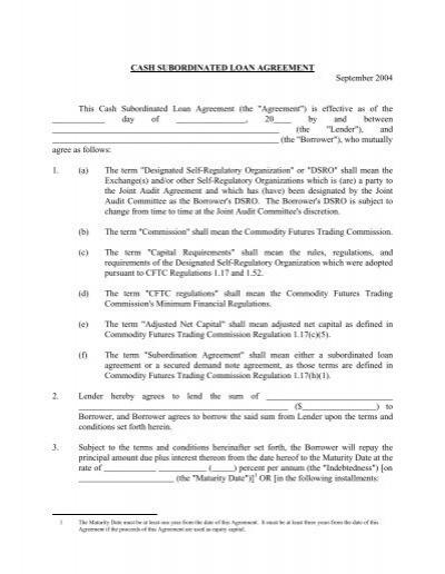 Doc#600600 Sample Subordination Agreement u2013 Sample Subordination - subordination agreement template