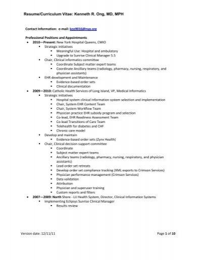 resume order in italiano