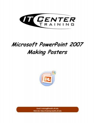 Microsoft PowerPoint 2007 Making Posters - Academic Health