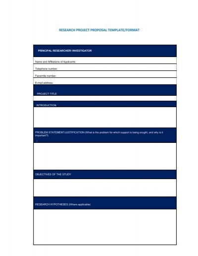 Project proposal Template - project proposal template sample