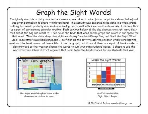 Sight Words Graph - Heidi Songs