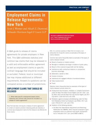 Release Agreements Erascal Org With This Example Of A Severance - employment release agreement