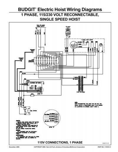 BUDGIT® Electric Hoist Wiring Diagrams - Hoists Direct