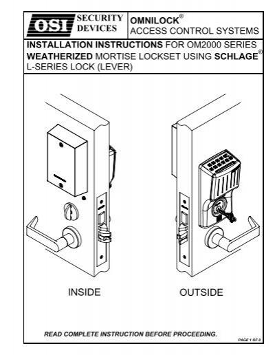 Schlage Access Control Wiring Diagram American Wiring Diagram, Apc