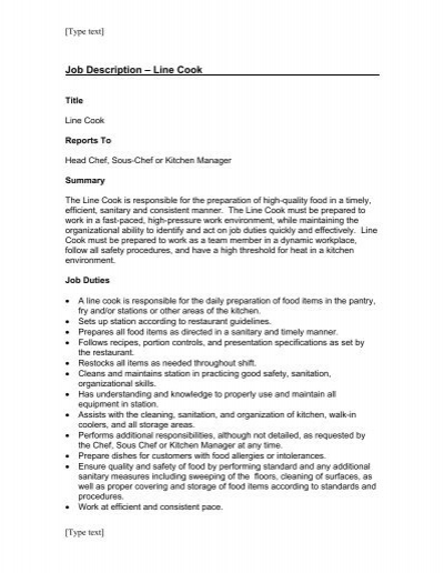 Chef Objective Resume sous chef resume example sample resume for - chef resume objective