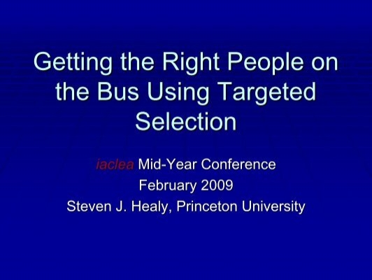 Getting the Right People on the Bus Using Targeted - IACLEA