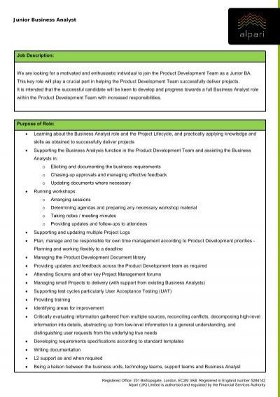 Senior QA Engineer Job Description We are looking for - Alpari UK - engineer job description