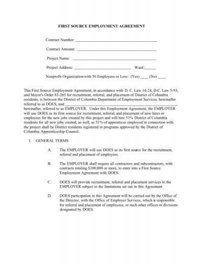 EMPLOYMENT AGREEMENT/CONTRACT Teacher Catholic