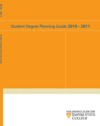 Student Degree Planning Guide 2010 - SUNY Empire State College - college degree planner