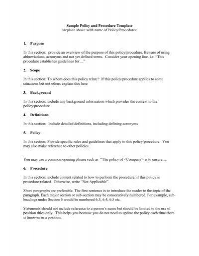 Procedure Manual Template Word cv01billybullockus – Office Manual Template