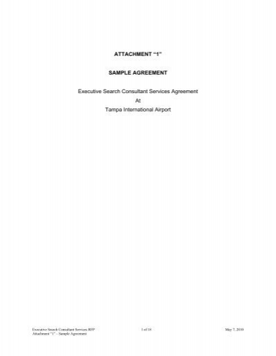 SAMPLE AGREEMENT Executive Search Consultant Services - sample executive agreement