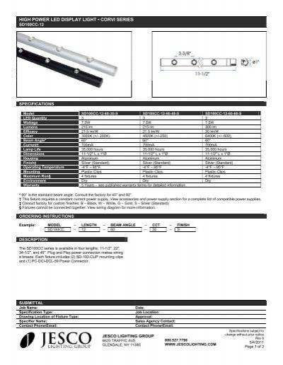 HIGH POWER LED DISPLAY LIGHT \u2022 CORVI SERIES - Jesco Lighting