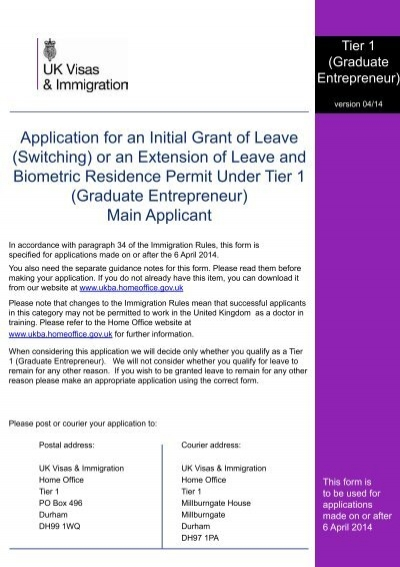 Tier 1 (General) application form - UK Border Agency - the Home - general application form