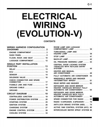 c-1 electrical wiring (evolution-v) - LIL EVO
