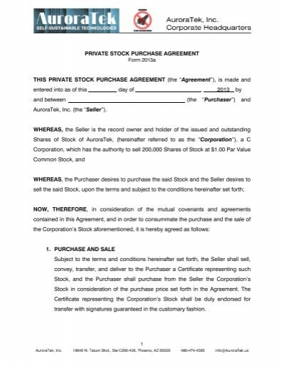 PRIVATE STOCK PURCHASE AGREEMENT THIS - Intalek - Stock Purchase Agreement