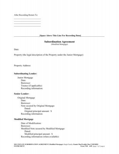 Subordination Agreement Meaning Choice Image - Agreement Letter Format