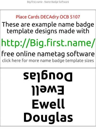 Gregorio Gregorio - Name Badge Software  Templates