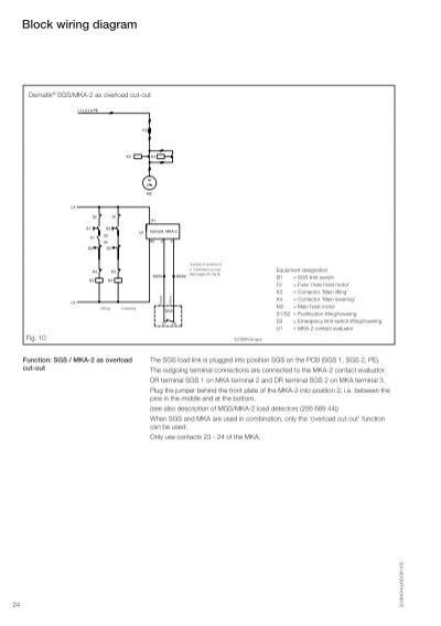 demag wiring diagram demag dc pro electric chain hoist hoist experts