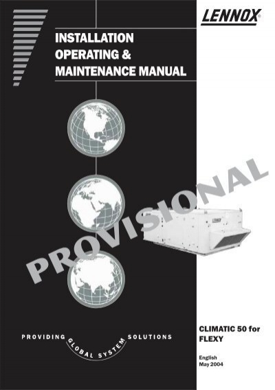 Lennox Operation Maintenance Manual - Expert User Guide \u2022 - Maintenance Manual Template