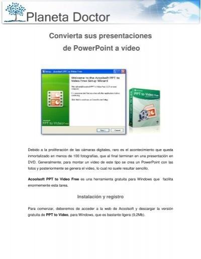 Convierta sus presentaciones de PowerPoint a vÃdeo - Planeta Doctor