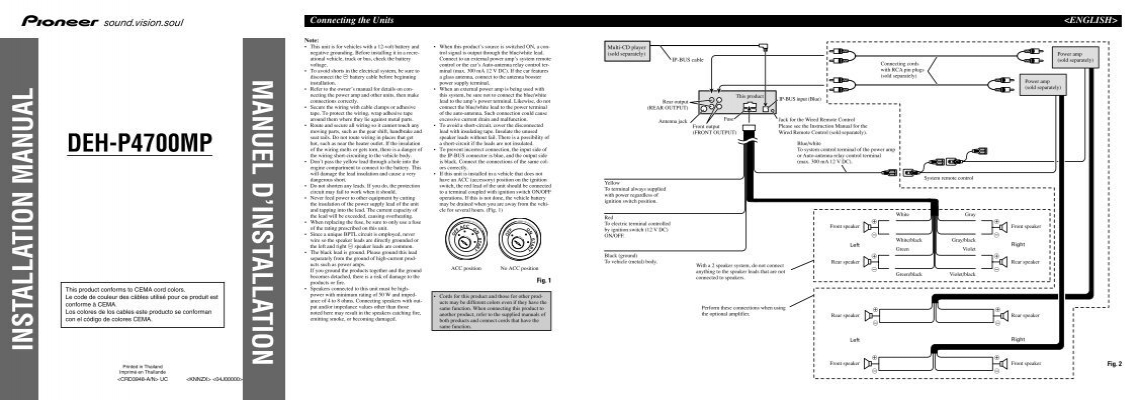pioneer avh270bt wiring harness diagram