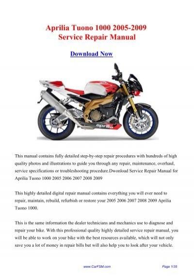Tuono 1000 20032004 Aprilia Motorcycle