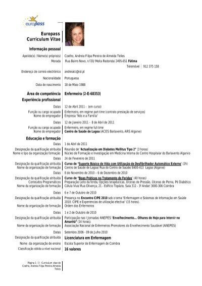 Europass-Curriculum Vitae - europass curriculum vitae