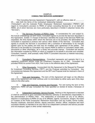 Sample Service Agreement Merchant Services Agent Agreement – Consulting Service Agreement