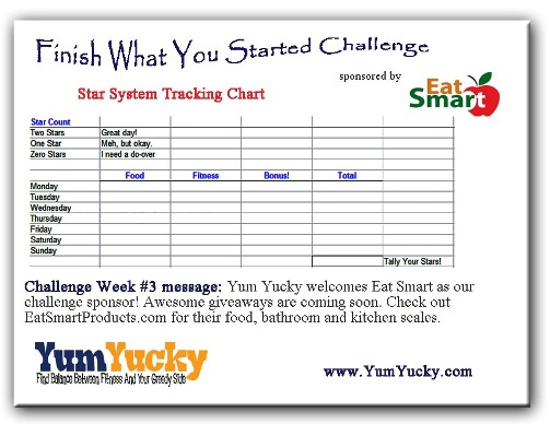 Finish It Monday Star System Chart Gets Fancy And Eat Smart Joins