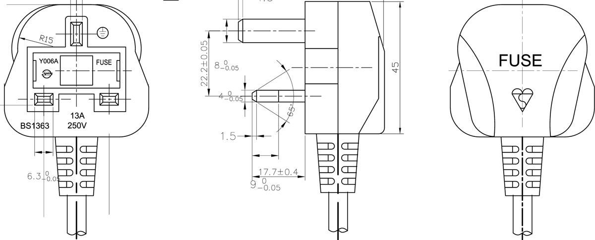 electrical plug (uk standard) latest design