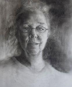 Anna Sue Courtney, yuri ozaki, portrait, graphite, charcoal, flying monkey arts, lowe mill arts and entertainment, huntsville al, huntsville