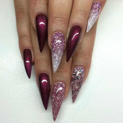 20 Superb Stiletto Nail Art Designs 2016 Yusrablogcom