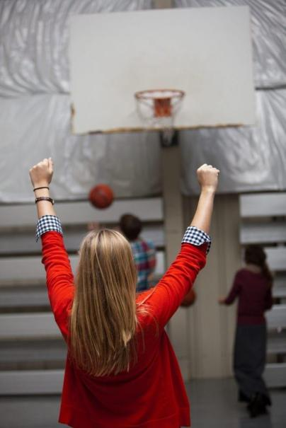 Basketball Goal in the Dining area