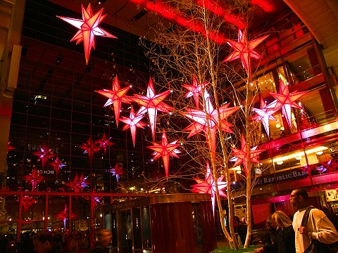 NY- Christmas Lights at the Time Warner Center