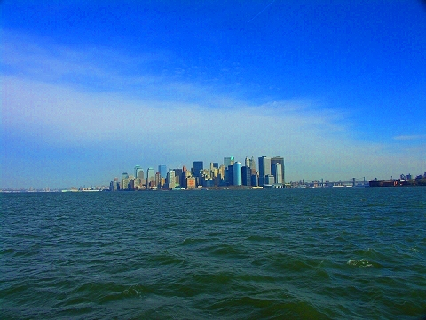 NY- Harbor and the Southern Tip of Manhattan