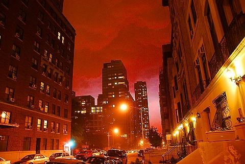 NY- Lightning Storm on West 70th- Upper Westside
