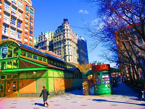 NY- Guiseppe Verdi Square- Ansonia