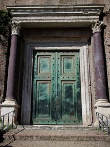 Rome- Forum- copper doors- Temple of Romulus- 1700 years old