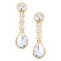 Rose-Cut Diamond Earrings - Zadok