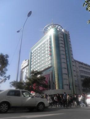 Una de las calles comerciales del centro de la ciudad de Changchun.