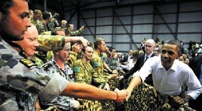 Barak Obama visitó el 17 de noviembre a las tropas estadounidenses en Australia.