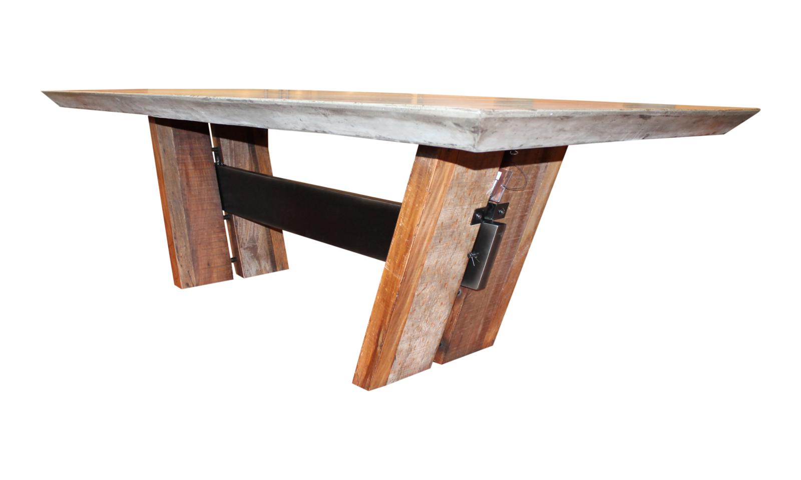 cement dining table concrete kitchen table Mercer Concrete Dining Table