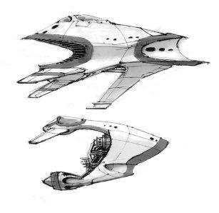 173-vaisseaux design concept dessin