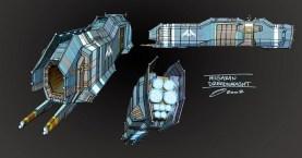 85-vaisseaux design concept dessin