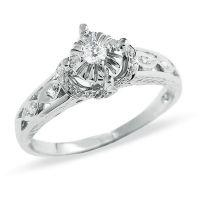 1/6 CT. T.W. Diamond Promise Ring in 10K White Gold ...