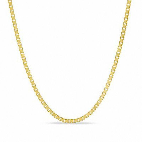 08mm Box Chain Necklace in 10K Gold - 20\