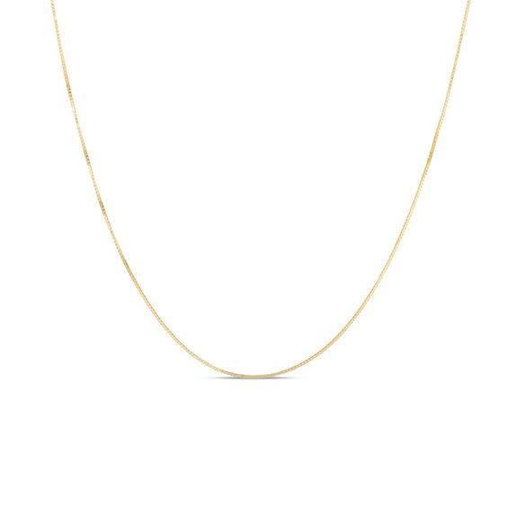 04mm Box Chain Necklace in 14K Gold - 20\