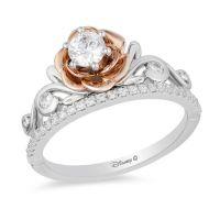 Enchanted Disney Belle 1/2 CT. T.W. Diamond Rose Tiara ...